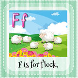 Flashcard of letter F Royalty Free Stock Photos