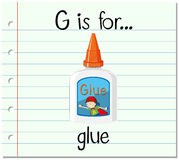 Flashcard letter G is for glue Royalty Free Stock Image