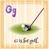 Flashcard letter G is for golf stock illustration