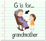 Flashcard letter G grandmother Stock Photos