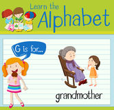 Flashcard letter G is for grandmother Royalty Free Stock Photos