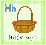Flashcard letter H is for hamper Stock Photos