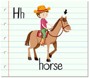 Flashcard letter H is for horse Royalty Free Stock Image