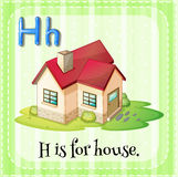 Flashcard letter H is for house Royalty Free Stock Photos