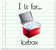Flashcard letter I is icebox Stock Photo