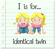 Flashcard letter I is for identical twin Royalty Free Stock Photography