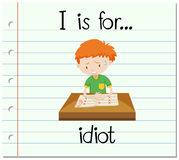 Flashcard letter I is for idiot Royalty Free Stock Image