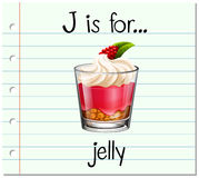 Flashcard letter J is for jelly stock illustration