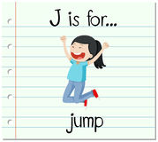 Flashcard letter J is for jump royalty free illustration
