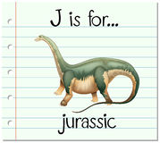 Flashcard letter J is for jurassic Stock Image