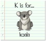 Flashcard letter K is for koala Royalty Free Stock Images