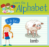 Flashcard letter L is for lamb Royalty Free Stock Image