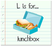 Flashcard letter L is for lunchbox. Illustration Stock Photos