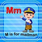 Flashcard letter M is for mailman royalty free illustration
