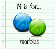 Flashcard letter M is for marbles Stock Image