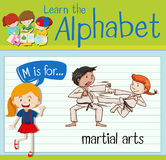 Flashcard letter M is for martial arts. Illustration Royalty Free Stock Photos