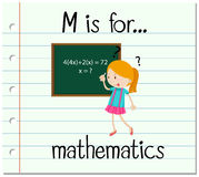 Flashcard letter M is for mathematics Royalty Free Stock Photography