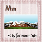 Flashcard letter M is for mountain Royalty Free Stock Photography