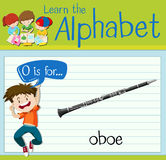Flashcard letter O is for oboe Royalty Free Stock Photography