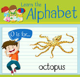 Flashcard letter O is for octopus Stock Photo