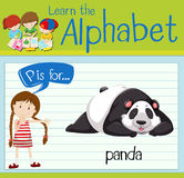 Flashcard letter P is for panda Stock Images