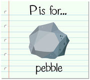 Flashcard letter P is for pebble Stock Image