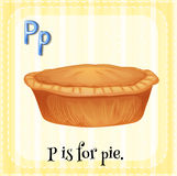 Flashcard letter P is for pie Stock Image