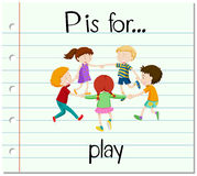 Flashcard letter P is for play Royalty Free Stock Photo
