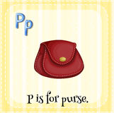 Flashcard letter P is for purse Stock Image