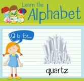 Flashcard letter Q is for quartz Stock Image
