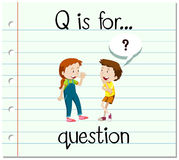 Flashcard letter Q is for question Stock Photography