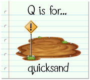Flashcard letter Q is for quicksand Royalty Free Stock Image
