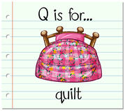 Flashcard letter Q is for quilt Royalty Free Stock Photography