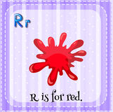 Flashcard of letter R Royalty Free Stock Images
