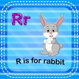 Flashcard letter R is for rabbit. Illustration of Flashcard letter R is for rabbit royalty free illustration