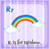 Flashcard letter R is for rainbow Royalty Free Stock Image