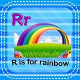 flashcard letter r is for rainbow stock illustration illustration