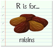 Flashcard letter R is for raisins Royalty Free Stock Images