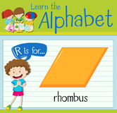 Flashcard letter R is for rhombus Stock Photos