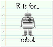 Flashcard letter R is for robot Stock Photography