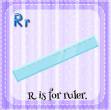 Flashcard letter R is for ruler Stock Photo