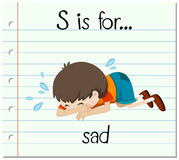 Flashcard letter S is for sad Royalty Free Stock Photography