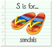 Flashcard letter S is for sandals Royalty Free Stock Photography