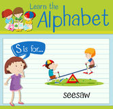 Flashcard letter S is for seesaw Stock Photos