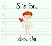 Flashcard letter S is for shoulder Stock Photo