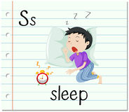 Flashcard letter S is for sleep Stock Images