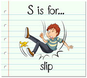Flashcard letter S is for slip Royalty Free Stock Images