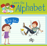 Flashcard letter S is for slip Royalty Free Stock Photos
