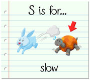 Flashcard letter S is for slow Stock Photos