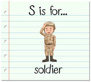 Flashcard letter S is for soldier Stock Images